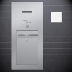 letterbox flush-mount Sprechanlage Design preiswert Audio