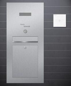 letterbox flush-mount Sprechanlage Design preiswert Audio