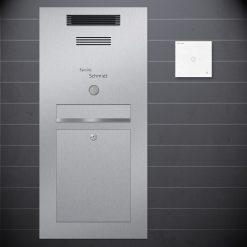 stainless steel letterbox flush-mount Sprechanlage Design preiswert Audio Klingeltaster