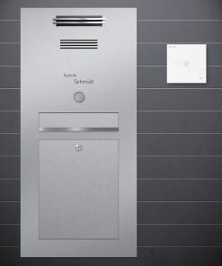 stainless steel letterbox flush-mount Sprechanlage Design preiswert Audio Klingeltaster