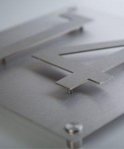 Hausnummer stainless steel gebürstet - aufgesetzt