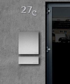 stainless steelbriefkasten und Zeitungsbox mit Beschriftung Wandmontage