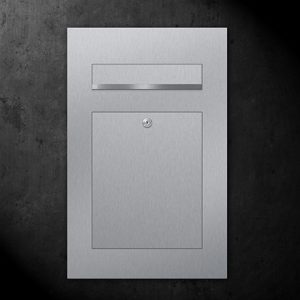 Stainless steel B2 letterbox overview