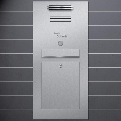 letterbox stainless steel gebürstet mit Türklingel LED