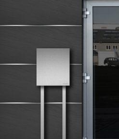 Freistehdender letterbox in stainless steel - Detailansicht
