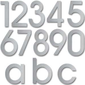 Stainless steel house numbers