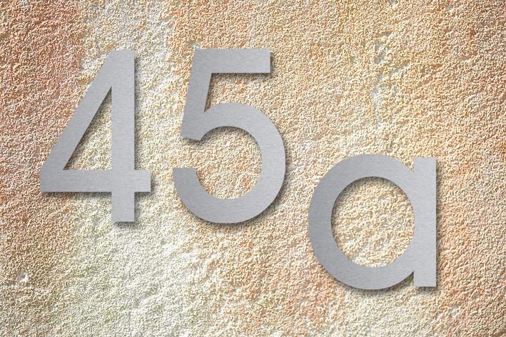 Hausnummer aus stainless steel