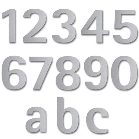 Hausnummern im stainless steel Style - Übersicht