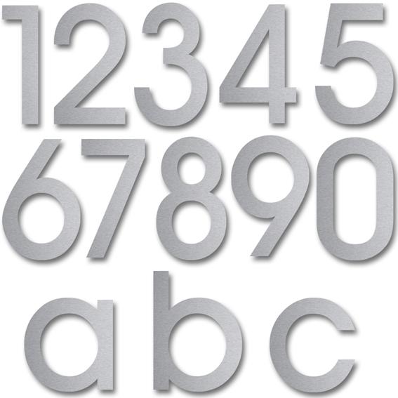 Hausnummern aus stainless steel