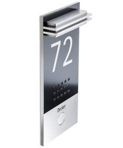 Moderne Türklingel aus stainless steel inkl Hausnummer
