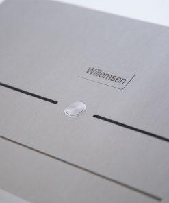 stainless steeltürklingel letterbox mit Taster und Türsprechanlage