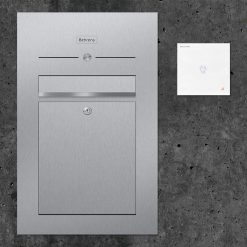 letterbox stainless steel flush-mount Audiosprechstelle