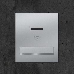 Durchwurfbriefkasten stainless steel mit Sprechanlage
