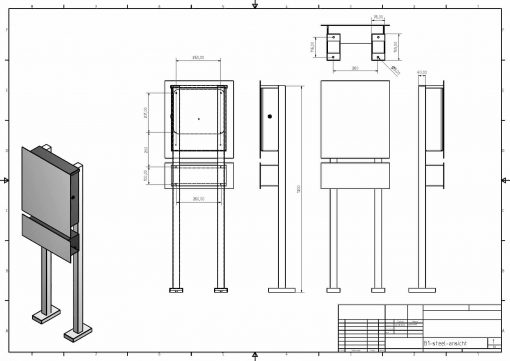 letterbox stainless steel Freistehend