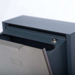 letterbox stainless steel RAL 7016