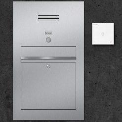 letterbox stainless steel Klingeltaster Türsprechanlage