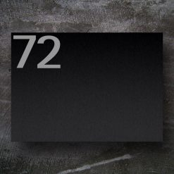 letterbox stainless steel black Hausnummer Namensbeschriftung