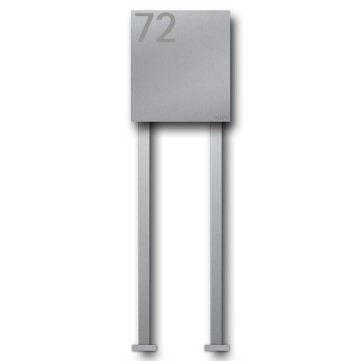letterbox stainless steel B1 Number freistehend Post