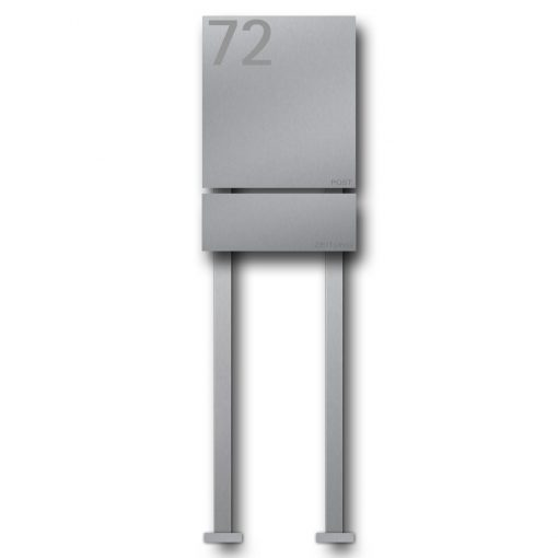 letterbox stainless steel newspaper compartment B1 Number freistehend Post