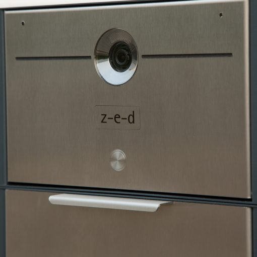 letterbox stainless steel Video Türsprechanlage Komplettset Einfamilienhaus