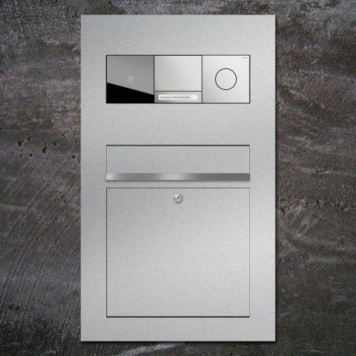 letterbox Gira 106 stainless steelbriefkasten flush-mount