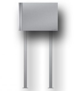 letterbox stainless steel newspaper compartment freistehend Beschriftung