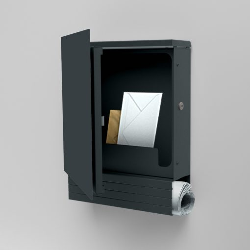 letterbox stainless steel anthracite newspaper compartment Wandmontage