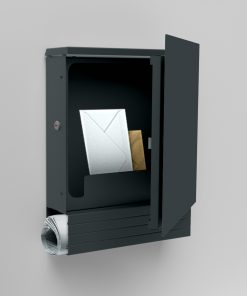 letterbox anthracite newspaper compartment Wandmontage