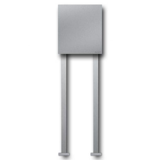 letterbox stainless steel freistehend Beschriftung