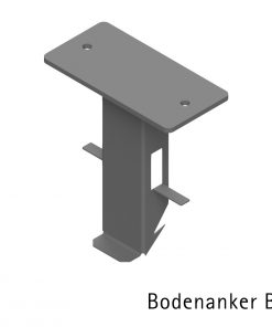 letterbox stainless steel Freistehend Bodenanker Fundament