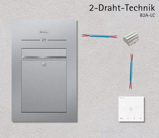 Türsprechanlage letterbox Audio 2-Draht Technik