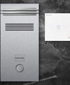 Türsprechanlange Klingeltaster LED Audio stainless steel Innenstation Sprechstelle
