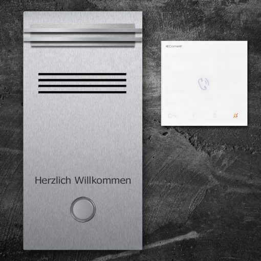 Türsprechanlage stainless steel Audio LED Klingeltaster Namensbeschriftung Innensprechstelle