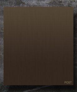 letterbox Messing Baubronze Beschriftung Wandmontage