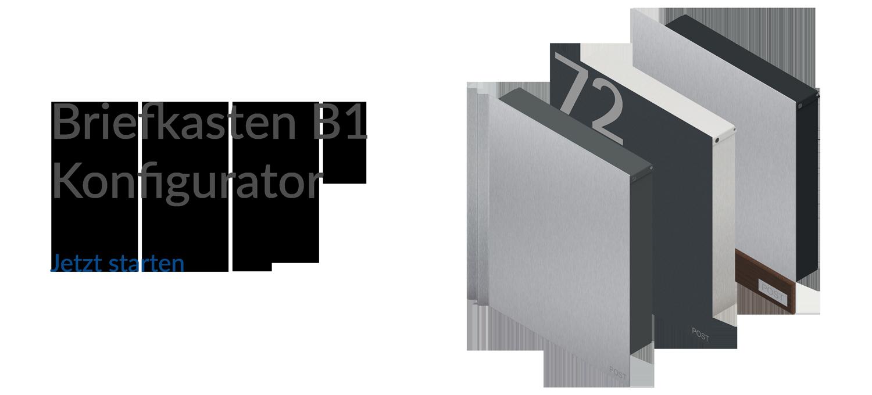 letterbox stainless steel Konfigurator