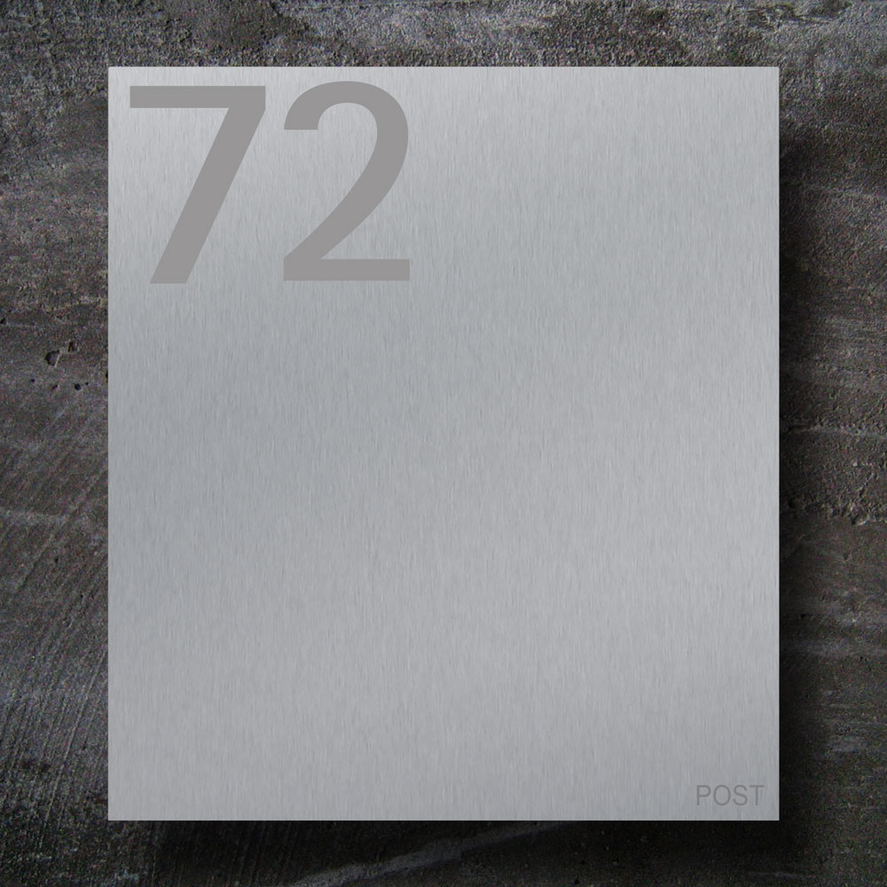 letterbox stainless steel Hausnummer Beschriftung Wandmontage