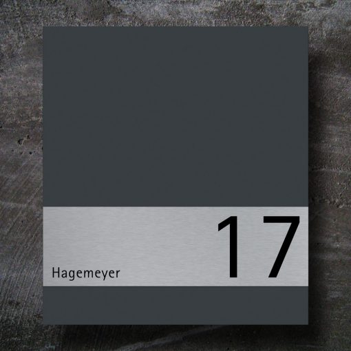 letterbox stainless steel anthracite Hausnummer Beschriftung Wandmontage