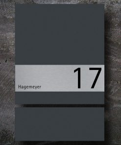 letterbox stainless steel anthracite newspaper compartment Hausnummer Beschriftung Wandmontage