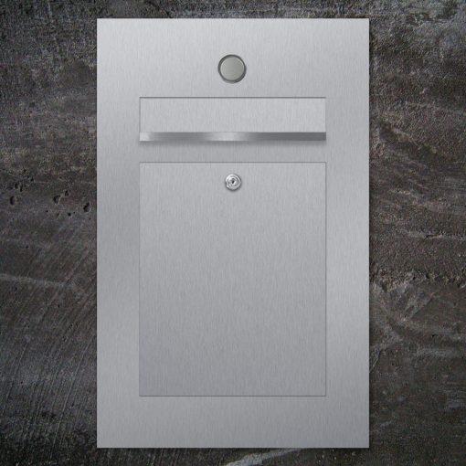 letterbox stainless steel Klingeltaster
