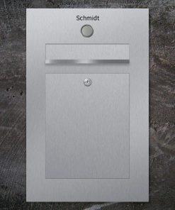 letterbox stainless steel Klingeltaster Namensbeschriftung