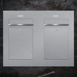 letterboxanlage stainless steel Zweifamilienhaus Namensbeschriftung