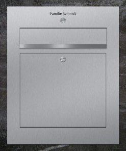 letterbox stainless steel Namensbeschriftung Klingeltaster
