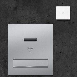 letterbox stainless steel Durchwurf Audio Innensprechstelle Klingeltaster Namensbeschriftung