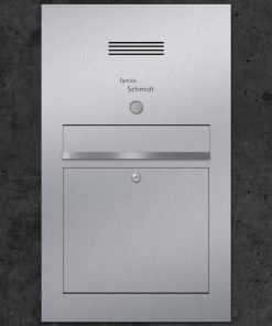 letterbox stainless steel Audio Klingeltaster Beschriftung flush-mount