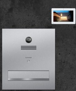 letterbox stainless steel Durchwurf Video Innensprechstelle Türsprechanlage Kamera
