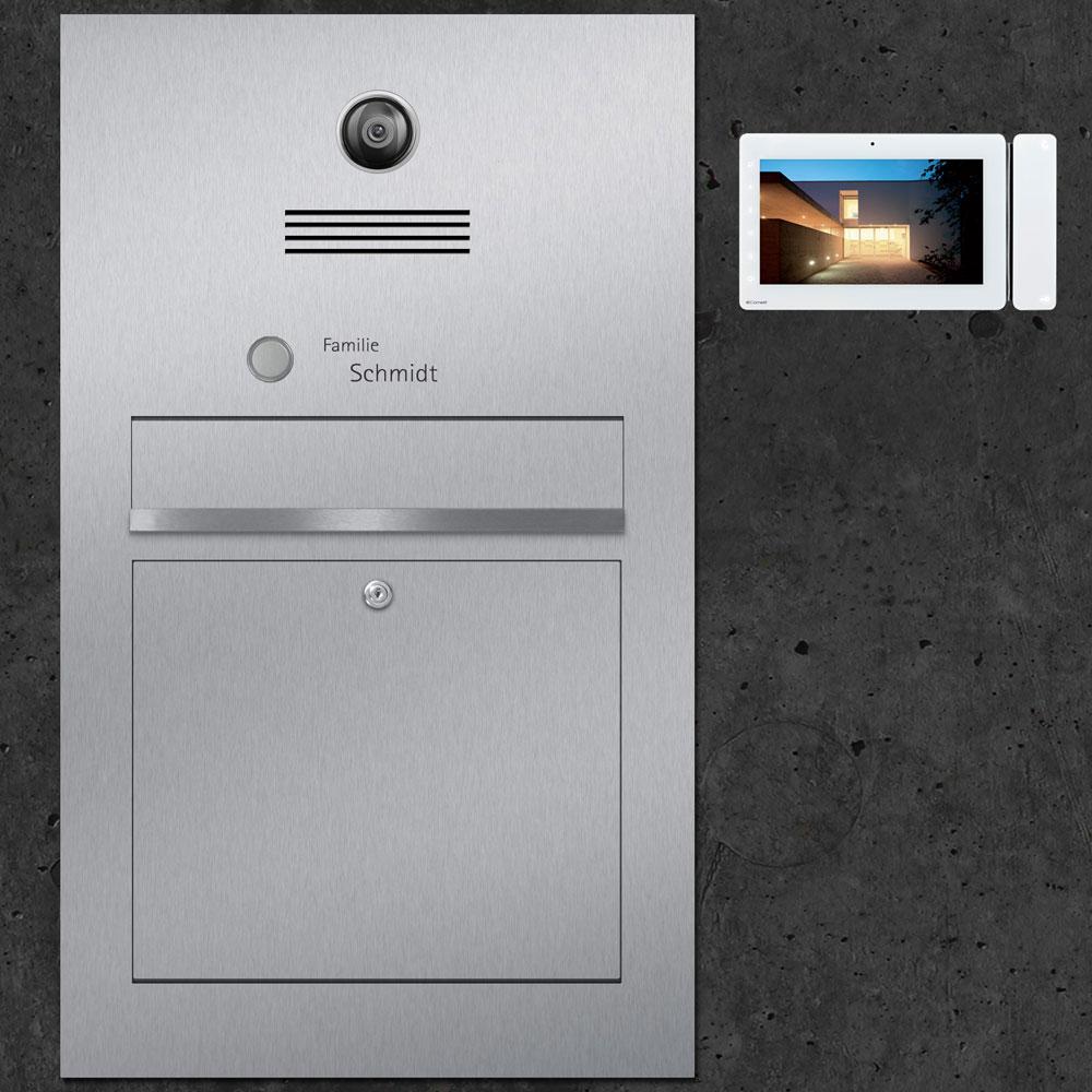 letterbox stainless steel Video Innensprechstelle Türsprechanlage Kamera