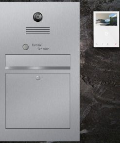letterbox stainless steel Video Innensprechstelle Namensbeschriftung Klingeltaster flush-mount