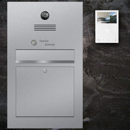 letterbox stainless steel Video Innensprechstelle Namensbeschriftung Klingeltaster flush-mount