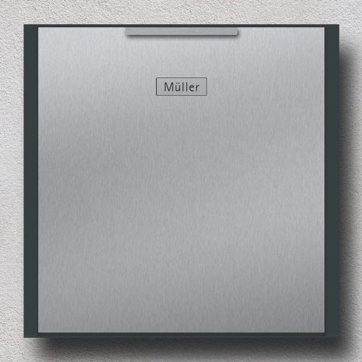 letterbox stainless steel anthracite Wandmontage Beschriftung