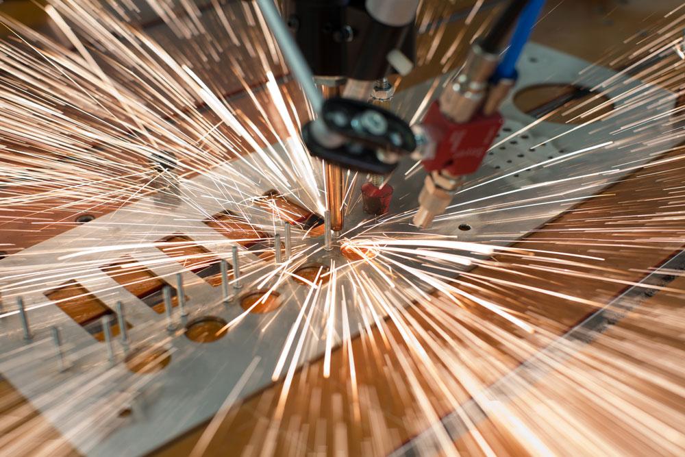 Bolzenschiessen Metallverarbeitung stainless steel